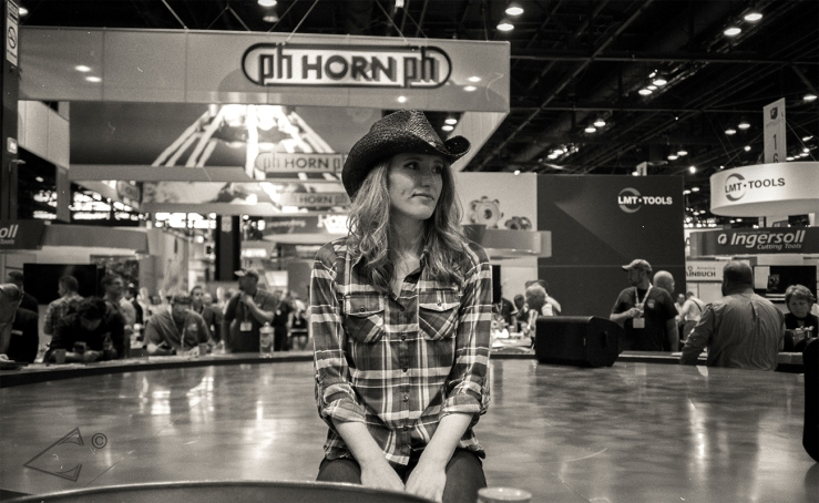 Convention Cowgirl. IMTS2016.